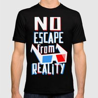 No escape from reality Mens Fitted Tee Black SMALL