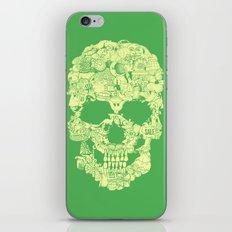 Clip Art Skull iPhone & iPod Skin