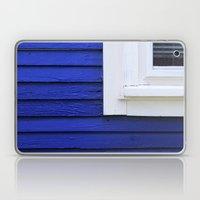White window frame, blue clapboards Laptop & iPad Skin