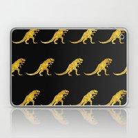 Golden T.Rex Pattern Laptop & iPad Skin
