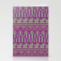 Multicolor Aztec pattern Stationery Cards