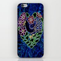 Gothic Bird In Heart iPhone & iPod Skin