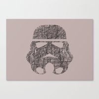Lines of Trooper Canvas Print