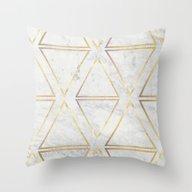 Throw Pillow featuring GOld Rhombus by Simona Sacchi