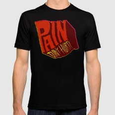 Pain Don't Hurt Black SMALL Mens Fitted Tee