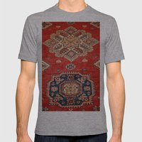 Natural Dyed Handmade Anatolian Carpet Mens Fitted Tee Athletic Grey SMALL
