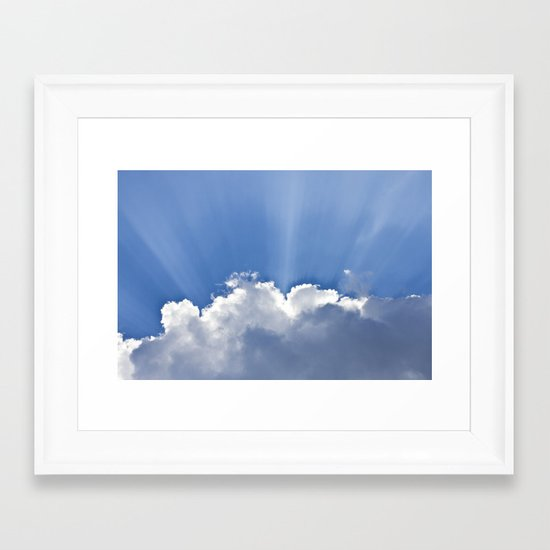 Clouds over Seaside Framed Art Print