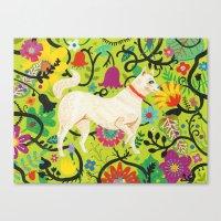 Spring Jindo Dog Canvas Print