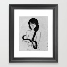 novo serpentes (black and white) Framed Art Print