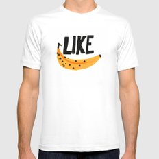Like Banana Mens Fitted Tee White SMALL