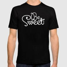 Be Sweet Shit Bag SMALL Black Mens Fitted Tee