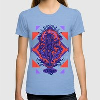 West Kali - Color Womens Fitted Tee Tri-Blue SMALL