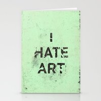 I HATE ART / PAINT Stationery Cards