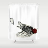 Love Bird Broken Shower Curtain