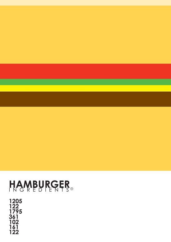 Pantone Food - Hamburger Canvas Print