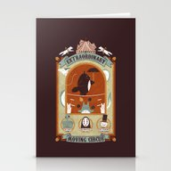 Stationery Cards featuring The Moving Circus by Teo Zirinis