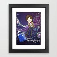 Doctor Who Love Framed Art Print