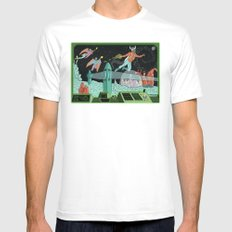 Surveillance of Moon Base 23 Mens Fitted Tee White SMALL