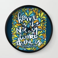 HOME IS THE NICEST WORD … Wall Clock