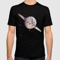 Space Sparrows Mens Fitted Tee Black SMALL