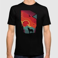 Lone Wolf Mens Fitted Tee Black SMALL