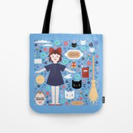 Tote Bag featuring Kiki's Delivery Service  by Carly Watts