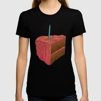 Happy Birthday (Pink)  Womens Fitted Tee Black SMALL