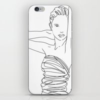 Line Art Lady iPhone & iPod Skin