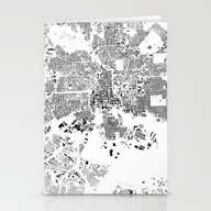 Stationery Cards featuring Baltimore Schwarzplan by City Map Art