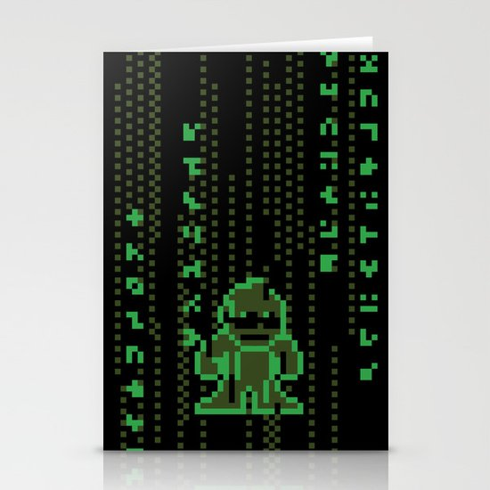 The Pixel Matrix Stationery Card