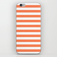 Horizontal Stripes (Coral/White) iPhone & iPod Skin