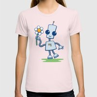 Ned's Flower Womens Fitted Tee Light Pink SMALL
