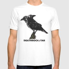 A Crow Mens Fitted Tee SMALL White