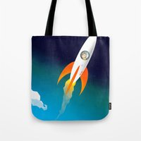 Rocket To The Stars! Tote Bag
