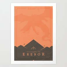 Welcome to Erebor Art Print