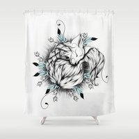 Little Fox  Shower Curtain