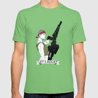 Let's Rock!  Mens Fitted Tee Grass SMALL