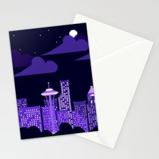 rainy city Stationery Cards