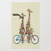 giraffe days lets tandem Rug