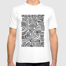 Line Art Series 2-2 Mens Fitted Tee White SMALL