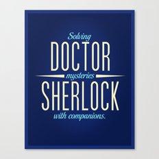 Doctor & Sherlock Canvas Print