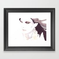 Fashion Illustration In … Framed Art Print