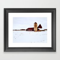 Graffiti Barn Framed Art Print