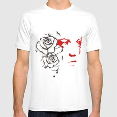 Abusive White SMALL Mens Fitted Tee