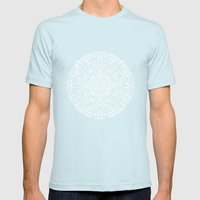 Doodle Circle 1 Mens Fitted Tee Light Blue SMALL