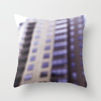 Losing Focus In Downtown… Throw Pillow