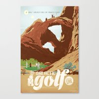 Galactic Golf - Retro Tr… Canvas Print