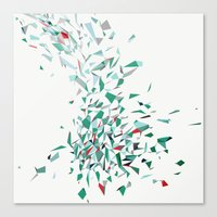 Flurry (green) Canvas Print