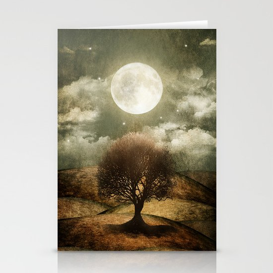 Once upon a time... The lone tree. Stationery Card
