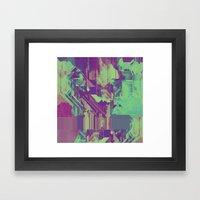 Glitchy 1 Framed Art Print